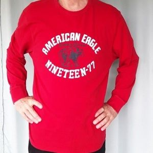 American Eagle Outfitters Red Long Sleeve